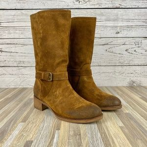 J. Crew Ryder Suede Buckle Boots Size 7